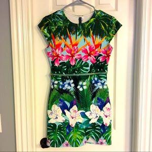 H&M Tropical Hawaiian Scuba Dress